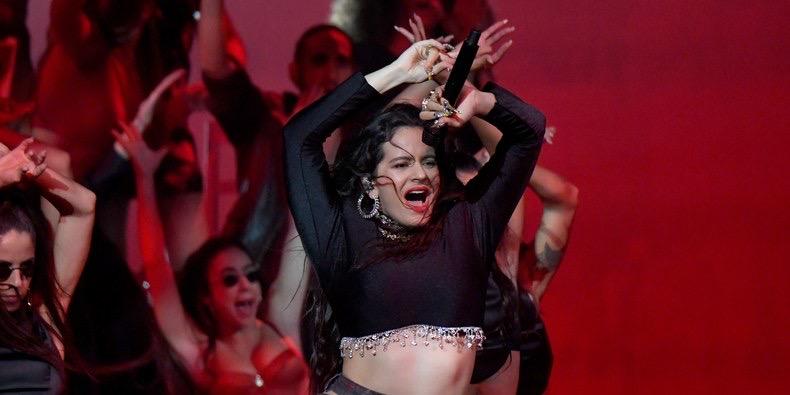 ROSALIA MTV  EMA performance Seville
